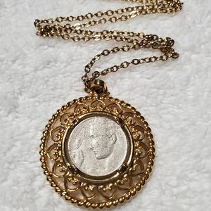 Jewelry - 1920 Italy Coin Pendant Necklace